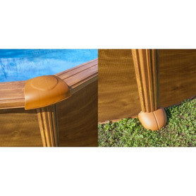 Escada Inoxidável para piscina de madeira Gre 126673