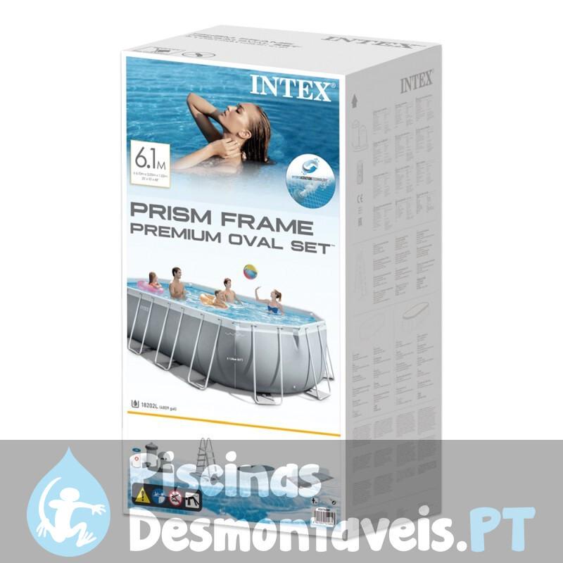 Piscina Intex Retangular Ultra Frame 732x366x132 cm 26362