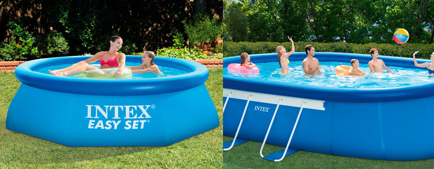Piscinas intex easy set for Piscinas rectangulares intex