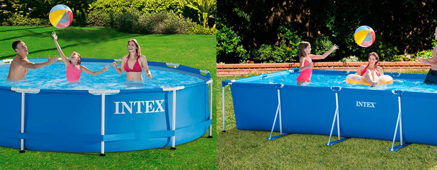 Piscinas intex metal frame for Piscinas desmontables intex