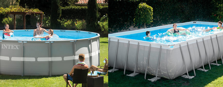 Piscinas intex ultra frame for Piscinas rectangulares intex