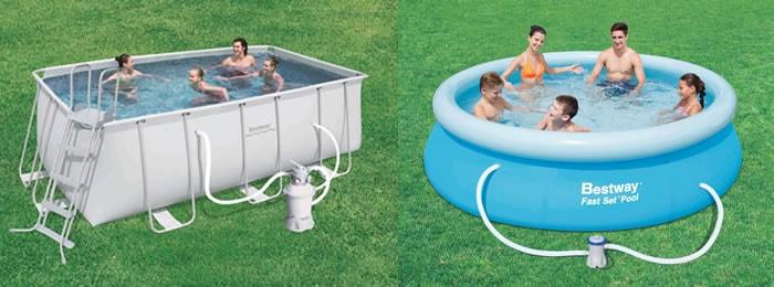 Piscinas bestway for Cubre piscina bestway